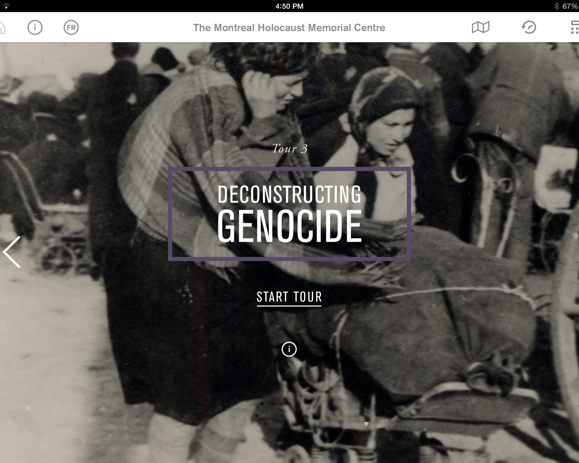 3rd tour: Deconstructing Genocide from the Montreal Holocaust Museum's app.
