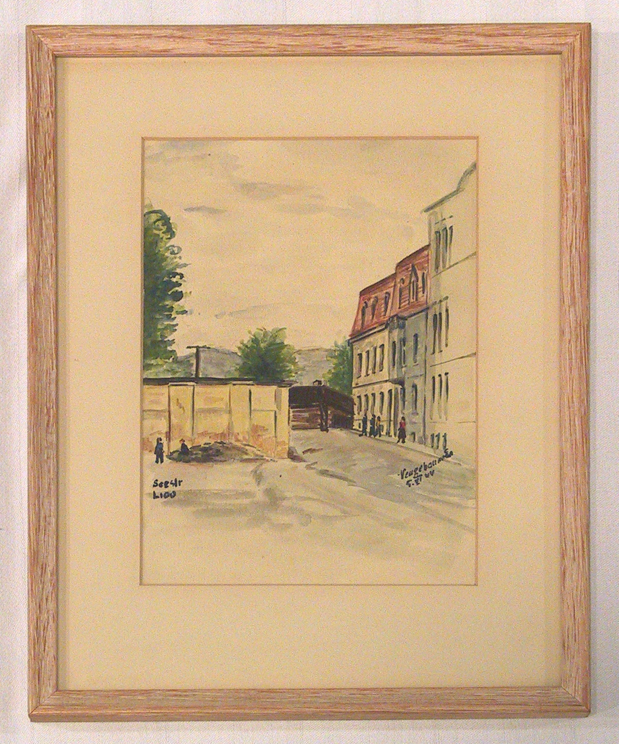 The ''L'' Block of the Theresienstadt ghetto painted by Edvard Neugebauer for Nazi propaganda.