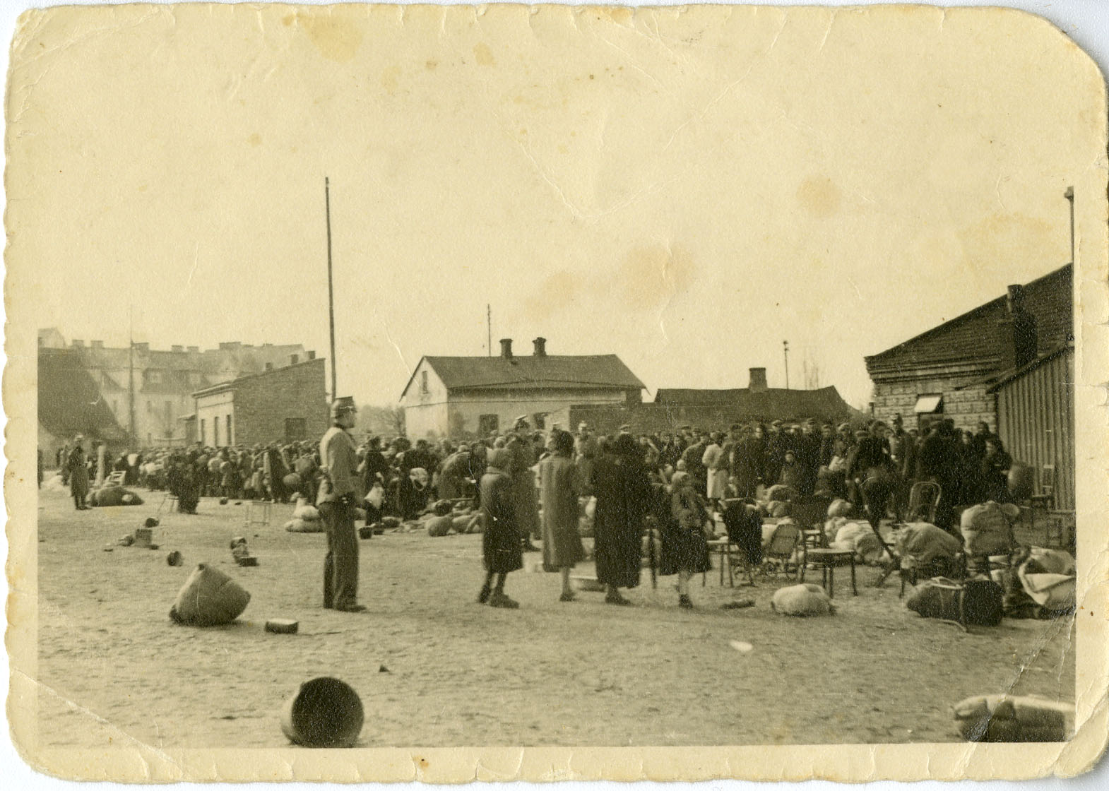 They also forced Jews to move into a ghetto to await their deportation to the Belzec killing centre. Ghetto residents who were selected for forced labour were sent to the Majdanek camp outside to the city.