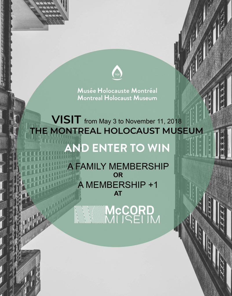 Contest in partnership with the McCord Museum
