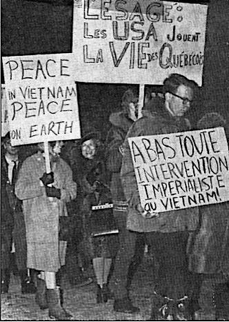 Léa s'engage dans le mouvement La Voix des femmes. Dès sa fondation en 1961, les Québécoises sont actives dans cette organisation pacifiste.
