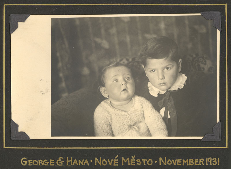 George Brady and Baby Hana in 1931.