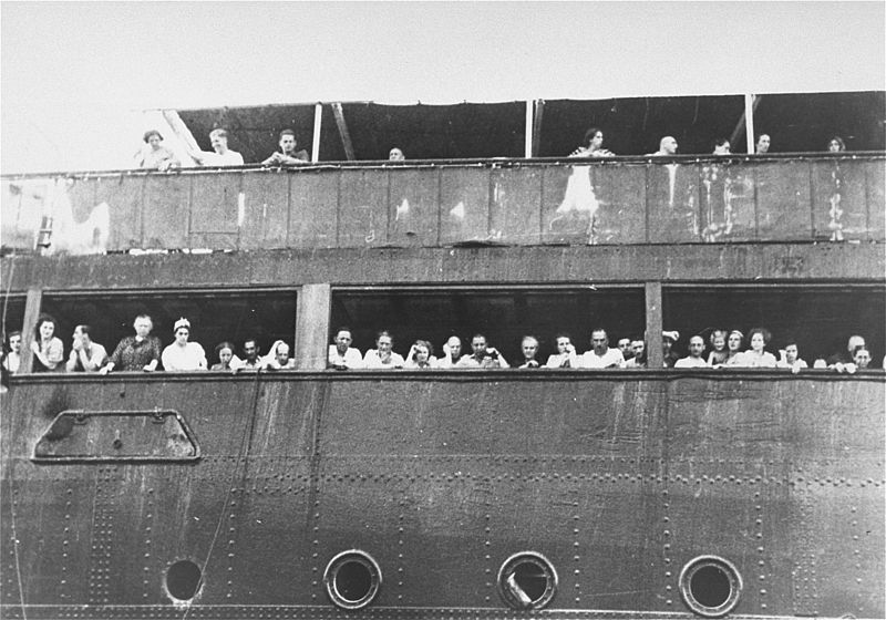 Jewish refugees aboard the MS St.Louis in Cuba, 1939.