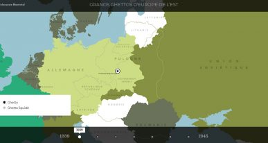 Carte Ghetto Europe Holocauste