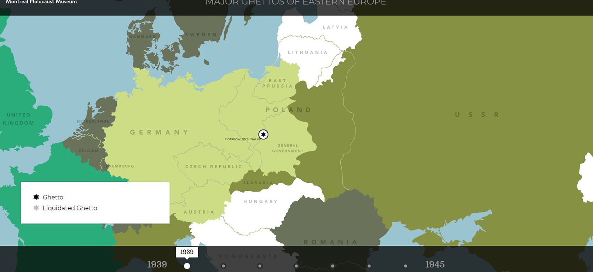 Interactive Map Ghetto Europe Holocaust Timeline