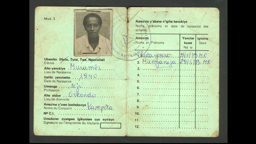 Stage 1 : Classification. In 1926, Belgian colonizers introduced a system of identity cards in Rwanda that differentiated the Tutsi, Hutu, and Twa ethnic groups. These classification policies exacerbated tensions between the communities. Source : Kigali Genocide Memorial