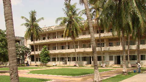 Stage 9 : Extermination. Site of prison S-21, also known as Tuol Sleng in Phnom Penh, Cambodia. Thousands of people were tortured and killed there during the genocide. It is believed that only ten survived. Source : Adam Jones, Flickr