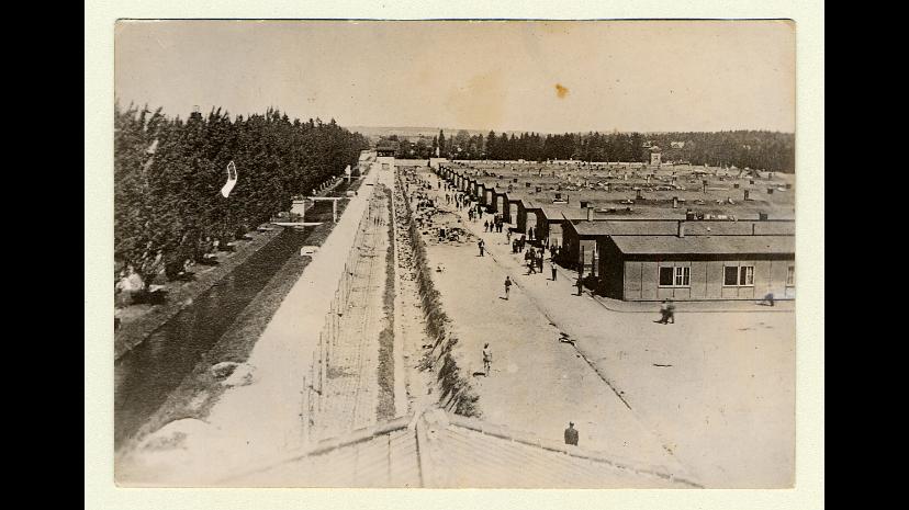 Étape 8 : Persécution. Des millions de juifs sont persécutés durant leur emprisonnement dans les camps de concentration. Camp de Dachau, Allemagne. Source : Musée Holocauste Montréal