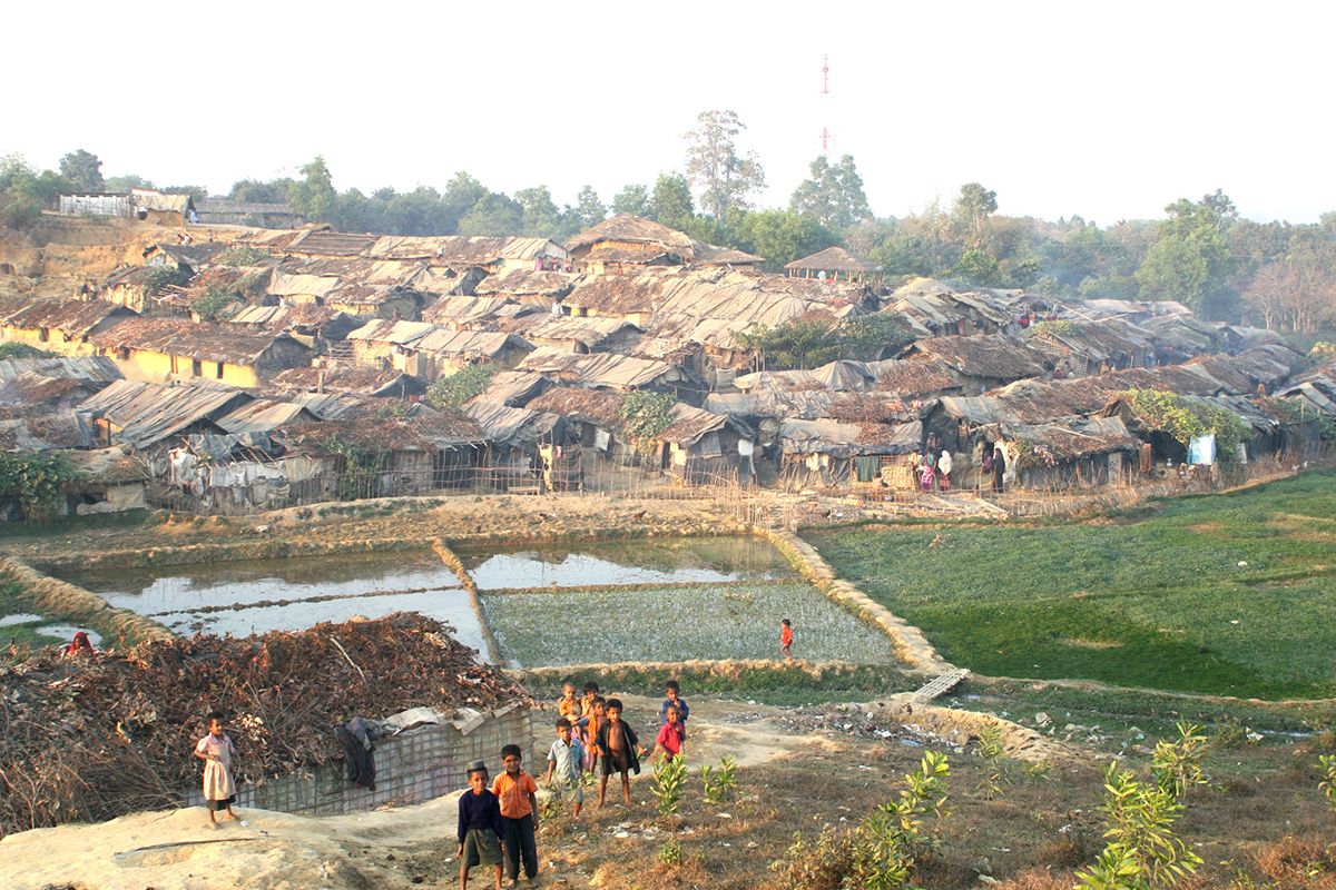 Kutapalong Refugee Camp in Bangladesh, 2016.