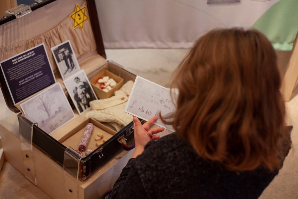 Exposition Littérature jeunesse et Holocauste © Musée de l'Holocauste Montréal, Photographie Stéphanie Cousineau-Bourassa