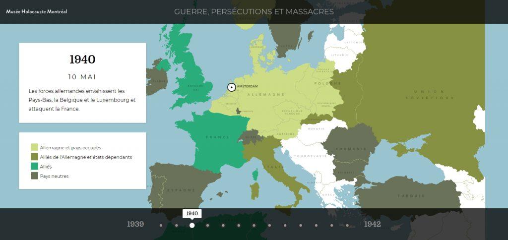 Netherlands invasion map