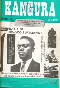 Couverture du magazine de propagande rwandais Kangura