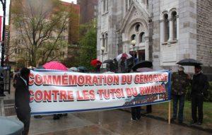Marche commémorative du génocide des Tutsi au Rwanda, organisée à Montréal en avril 2012. Source : PAGE-RWANDA.